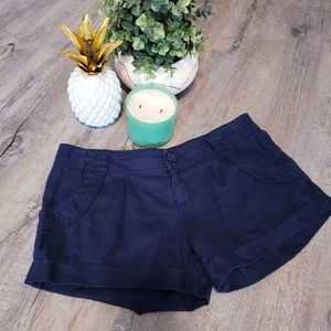 JUICY COUTURE | Navy Blue Ladies Shorts Size 6